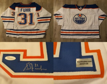 Grant Fuhr - Autographed Jersey