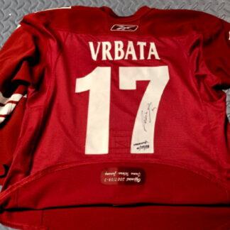 Radim Vrbata signed worn